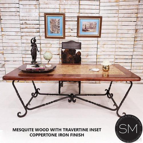 Western Decor Dining Table Awe-Inspiring Rectangular Texas Mesquite Top-Mexports By Susana Molina -Mexports® Inc by Susana Molina