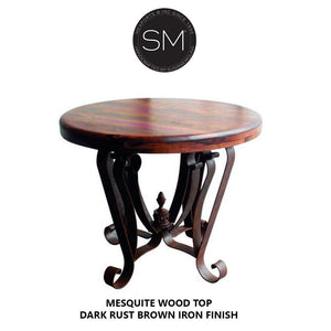 Luxury Entry Way Table | Wood w/ Wrought Iron-Mexports By Susana Molina-Mexports® Inc by Susana Molina