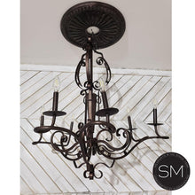 Wrought Iron Chandelier Model 1332 - Mexports® Inc by Susana Molina