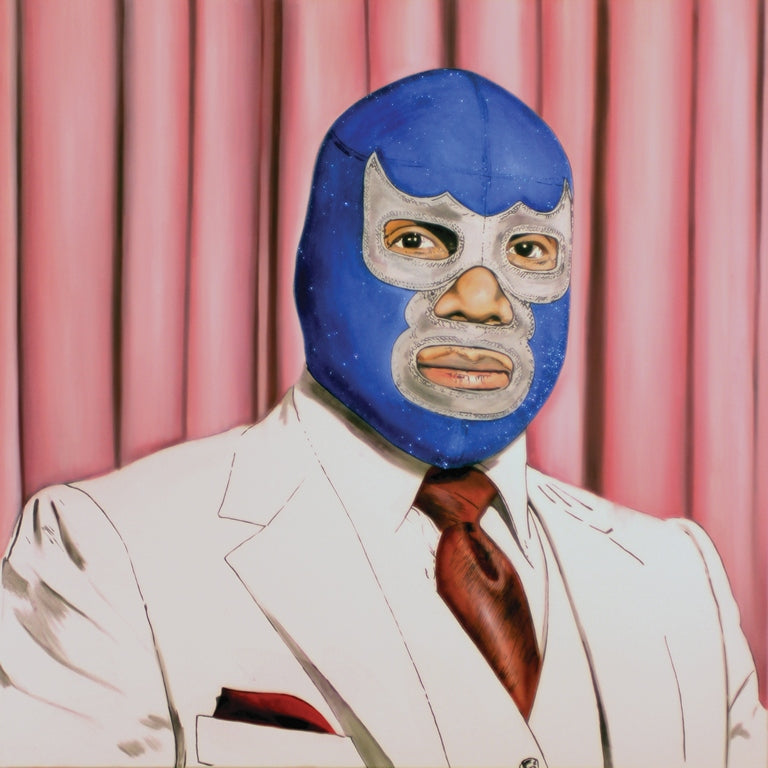 Blue Demon Mexican Luchador Banner 4' by 4'