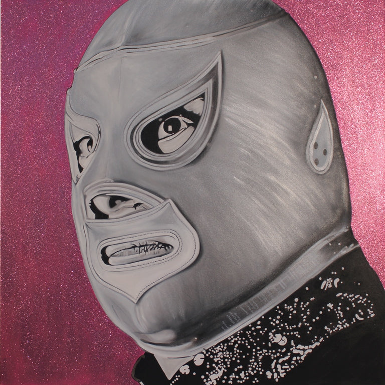 "El Santo Mexican Luchador in Acrylic 12"" by 12"" Limited Edition"