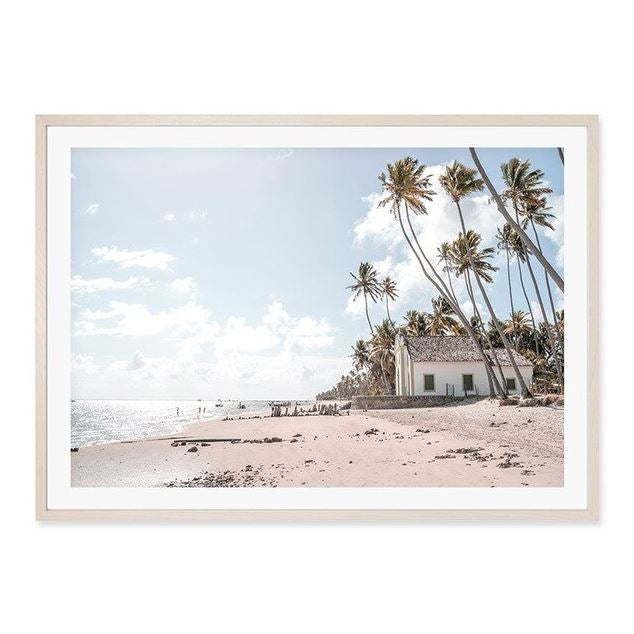 Ancient Door And Beach House Canvas Art Prints