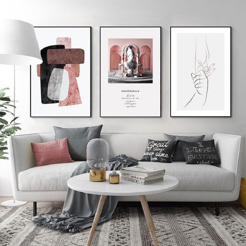 Geometric Art Abstract and Typographic Canvas Art Prints