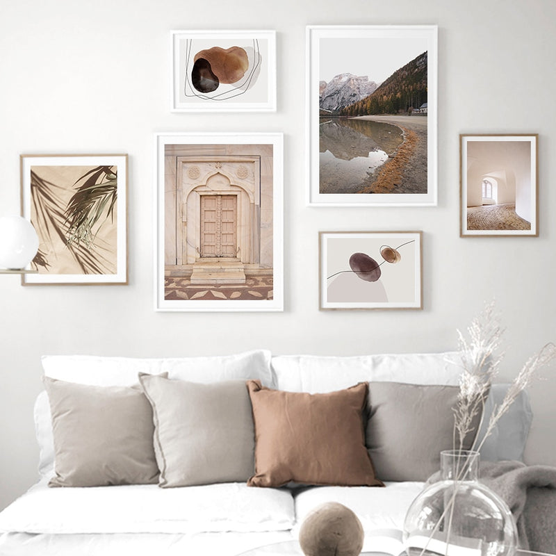 Bohemian Moroccan Door, Dried Flower And lakescape Canvas Prints