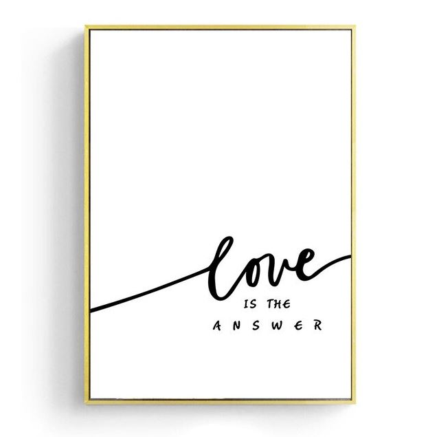 Love Is The Answer Girl Portrait Canvas Art Prints