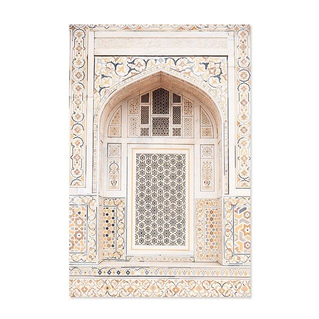 Moroccan Arch and Desert Canvas Art Prints