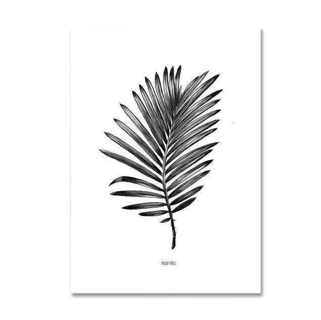 Nordic Palm Leaves Plants Dreams Quote Canvas Art Prints