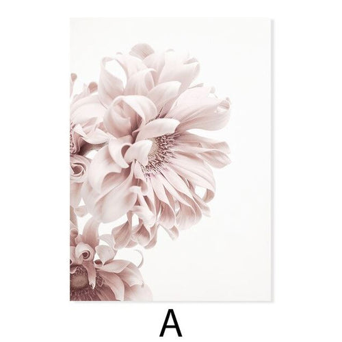 Avalyn Elegant Pink Flowers  Canvas Art Prints