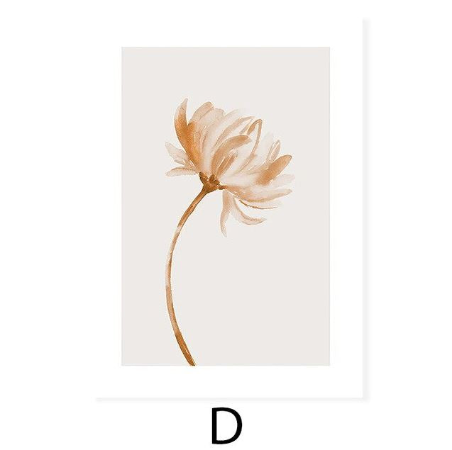 Minimalist Green Botanical illustrations Canvas Prints