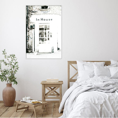 Red Church Street Corner Shop Art Print-Heart N' Soul Home