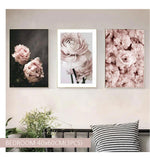 Soft Pink Peony Flowers Canvas Art Prints