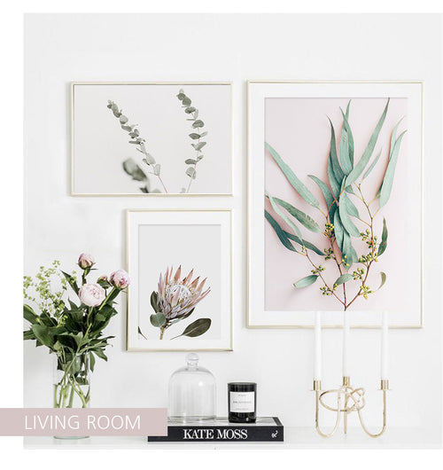 Leaves, Protea And Parrot Canvas Art Prints