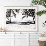 White Beach And Palm Trees Canvas Art Prints