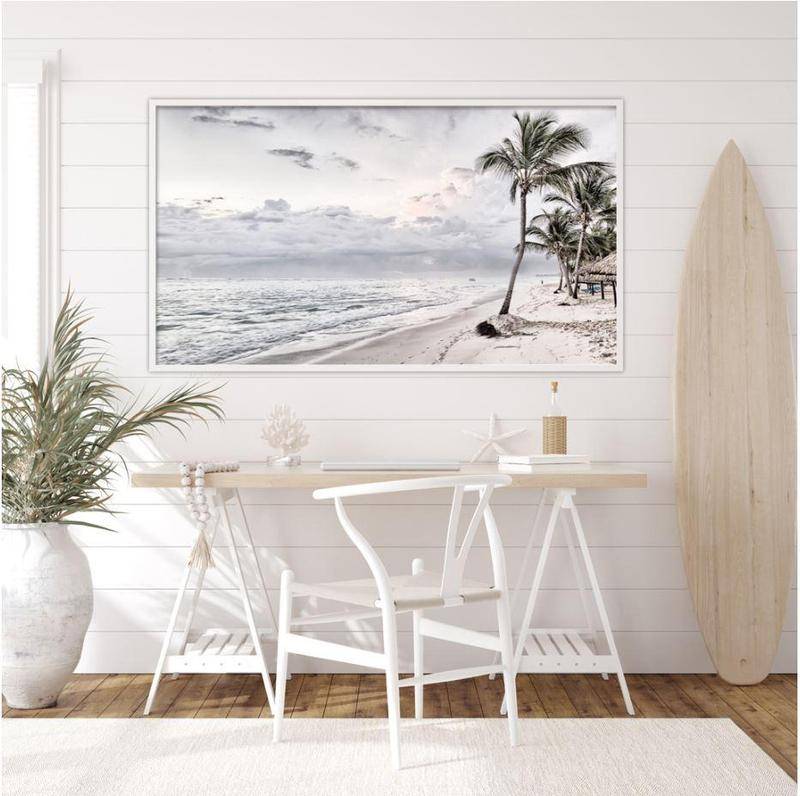 White Seascape Canvas Art Prints