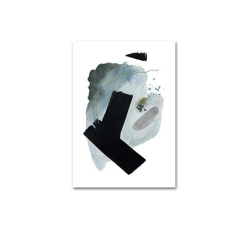 Albie Abstract Art Canvas Painting Prints-Heart N' Soul Home-10x15cm no frame-C-Heart N' Soul Home