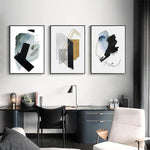 Albie Abstract Art Canvas Painting Prints-Heart N' Soul Home-Heart N' Soul Home