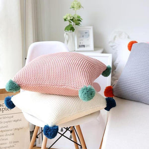 Alexis Knitted Cushion Cover-Heart N' Soul Home-Heart N' Soul Home