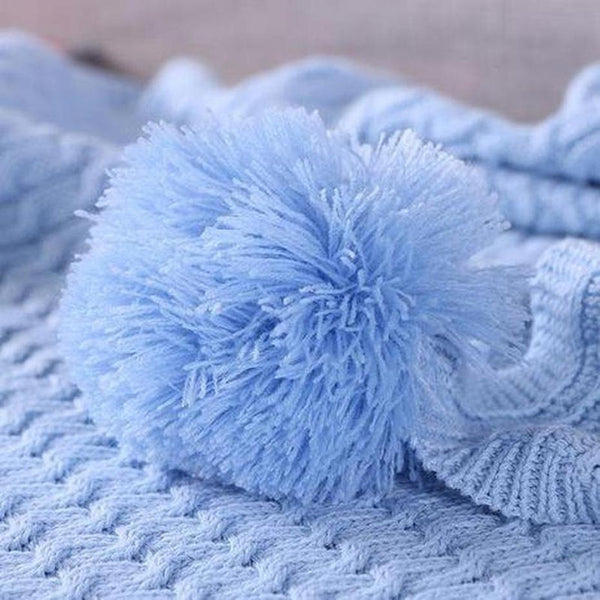 Alice Pom Pom Throw ( 4 Colors Available )-Heart N' Soul Home-Heart N' Soul Home
