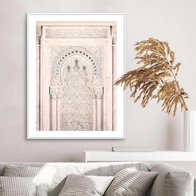 Ancient Door And Beach House Canvas Prints-Heart N' Soul Home-15x20 cm no frame-Ancient Door-Heart N' Soul Home