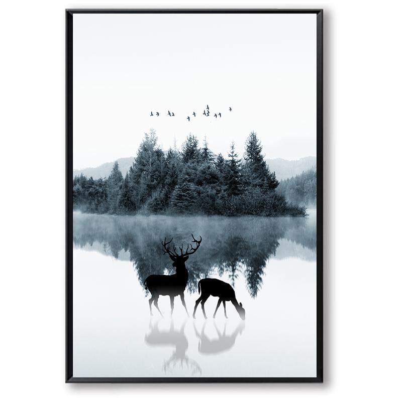 Deer In The Forest Canvas Art Prints