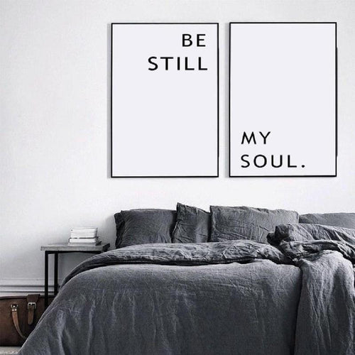 Be Still My Soul Canvas Painting Prints-Heart N' Soul Home-Heart N' Soul Home