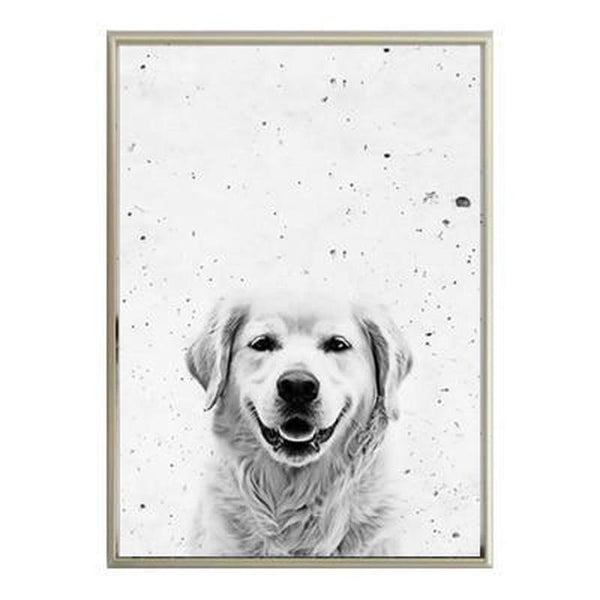Black And White Quotes And Animals Canvas Painting Prints-Heart N' Soul Home-10x15cm no frame-dog-Heart N' Soul Home