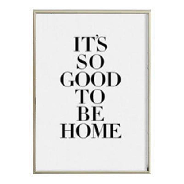 Black And White Quotes And Animals Canvas Painting Prints-Heart N' Soul Home-10x15cm no frame-It's so good to be home-Heart N' Soul Home