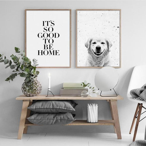 Black And White Quotes And Animals Canvas Painting Prints-Heart N' Soul Home-Heart N' Soul Home