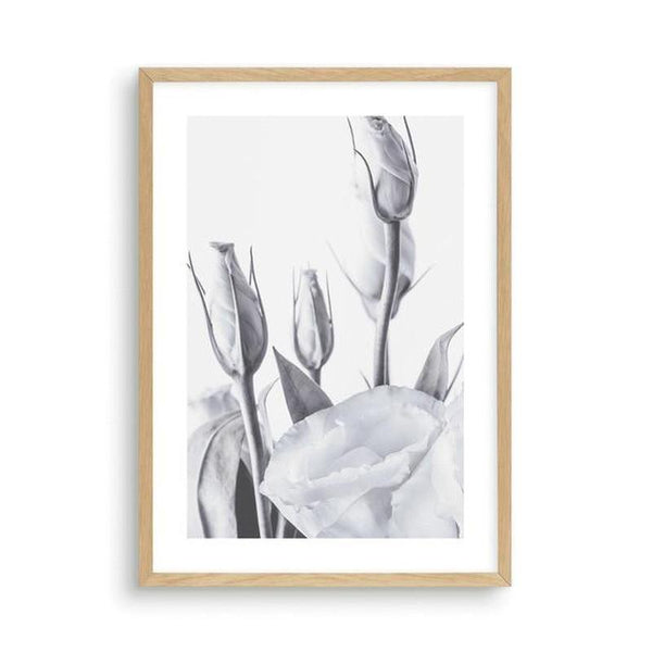 Blue Lisianthus Flower Canvas Print-Heart N' Soul Home-30x40cm No frame-Blue Lisianthus Flower Canvas Print (B)-Heart N' Soul Home