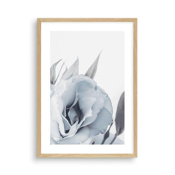 Blue Lisianthus Flower Canvas Print-Heart N' Soul Home-30x40cm No frame-Blue Lisianthus Flower Canvas Print (C)-Heart N' Soul Home