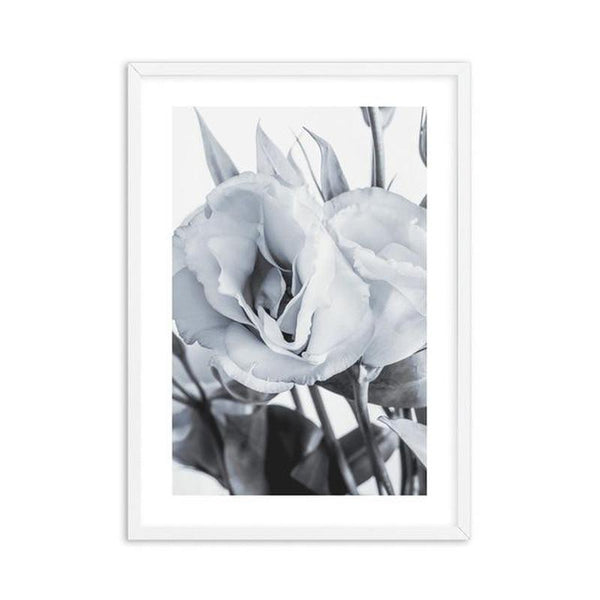 Blue Lisianthus Flower Canvas Print-Heart N' Soul Home-30x40cm No frame-Blue Lisianthus Flower Canvas Print (D)-Heart N' Soul Home