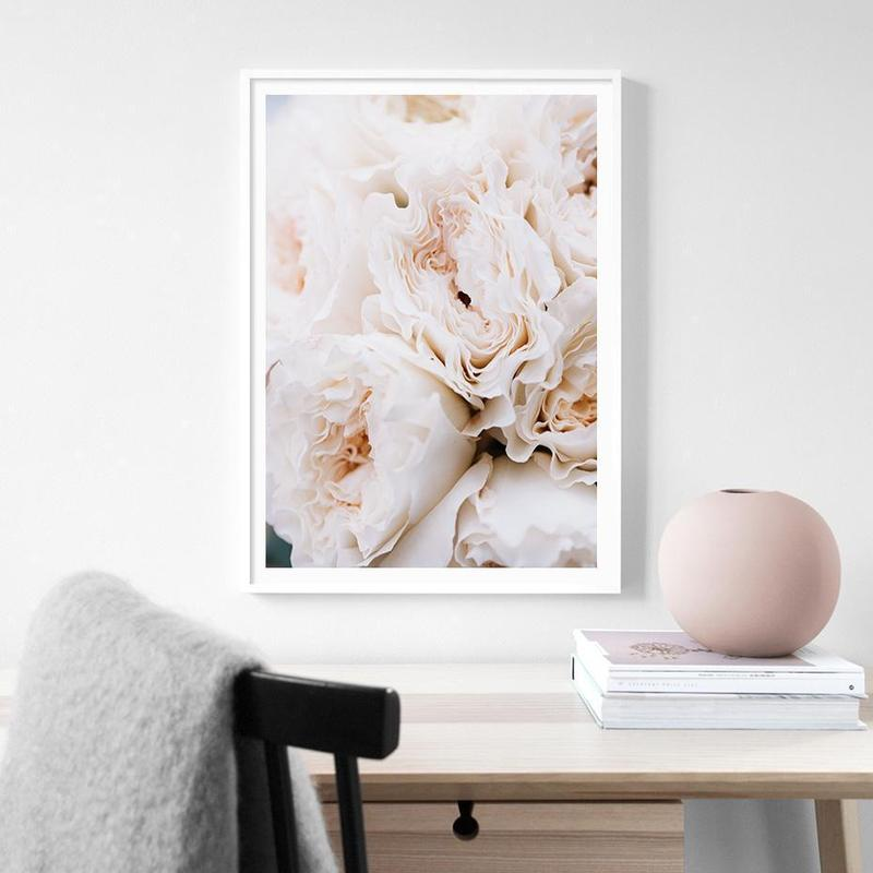 Blush Peonies And All Your Need Is Love Canvas Prints-Heart N' Soul Home-40x50cm no frame-Peonies-Heart N' Soul Home