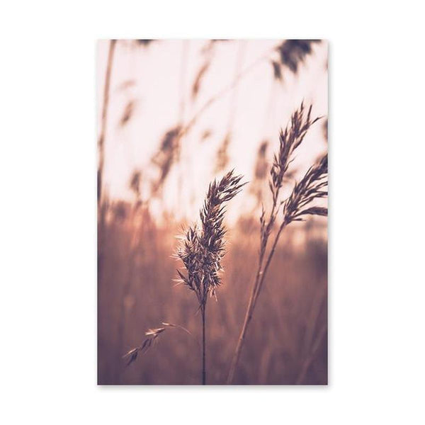 Brown Bulrush Series Canvas Prints-Heart N' Soul Home-10x15cm no frame-Picture B-Heart N' Soul Home