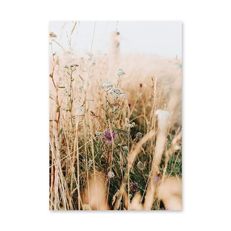 Brown Bulrush Series Canvas Prints-Heart N' Soul Home-60X80cm no frame-Picture D-Heart N' Soul Home