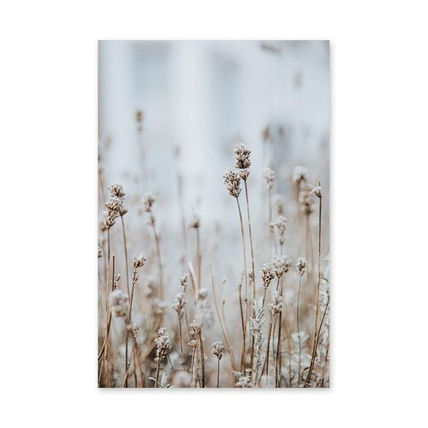 Brown Bulrush Series Canvas Prints-Heart N' Soul Home-60X80cm no frame-Picture F-Heart N' Soul Home