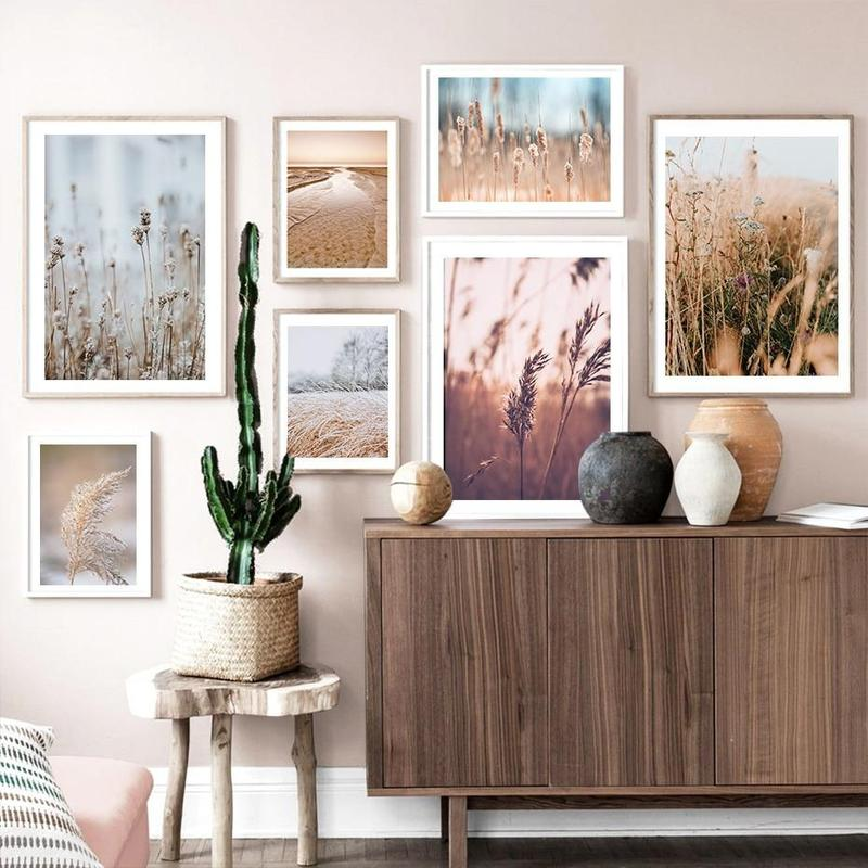 Brown Bulrush Series Canvas Prints-Heart N' Soul Home-Heart N' Soul Home