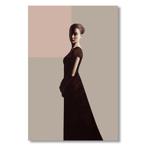 Classic Lady Series Design B Canvas Print-Heart N' Soul Home-60x90cn no frame-Heart N' Soul Home