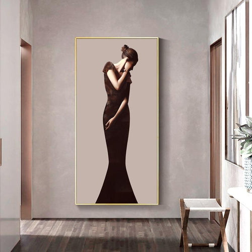 Classic Lady Series Design D Canvas Print-Heart N' Soul Home-Heart N' Soul Home