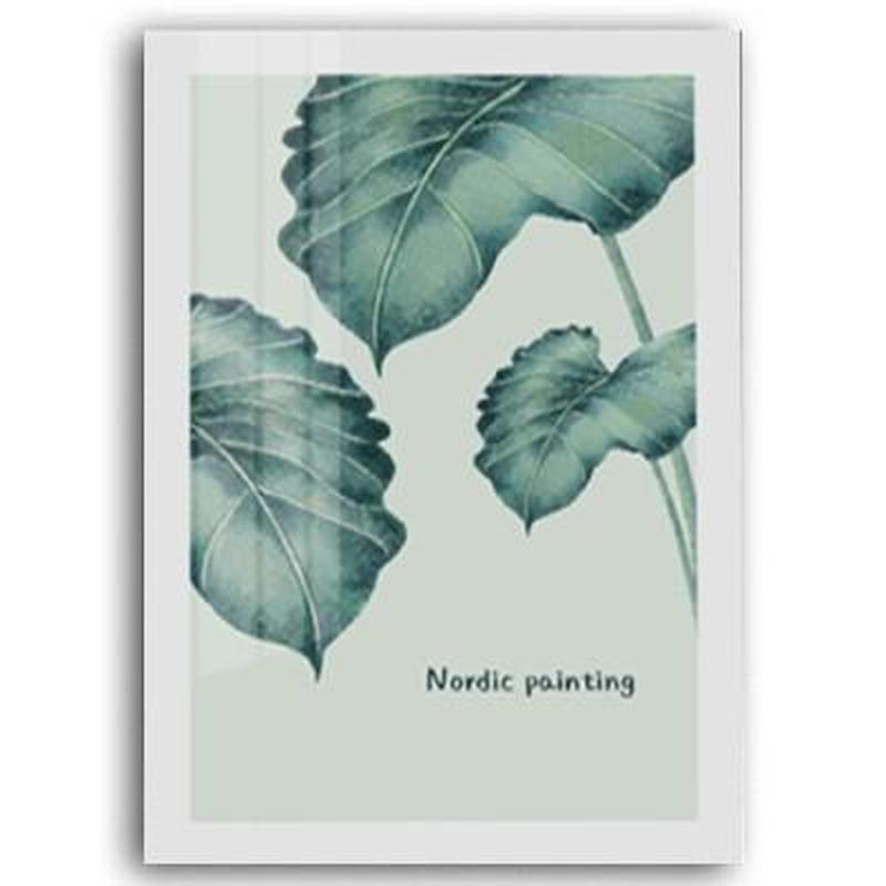 Deer, Green Leaves, Love, Flamingo Bird Canvas Painting Prints-Heart N' Soul Home-10x15 cm no frame-B-Heart N' Soul Home