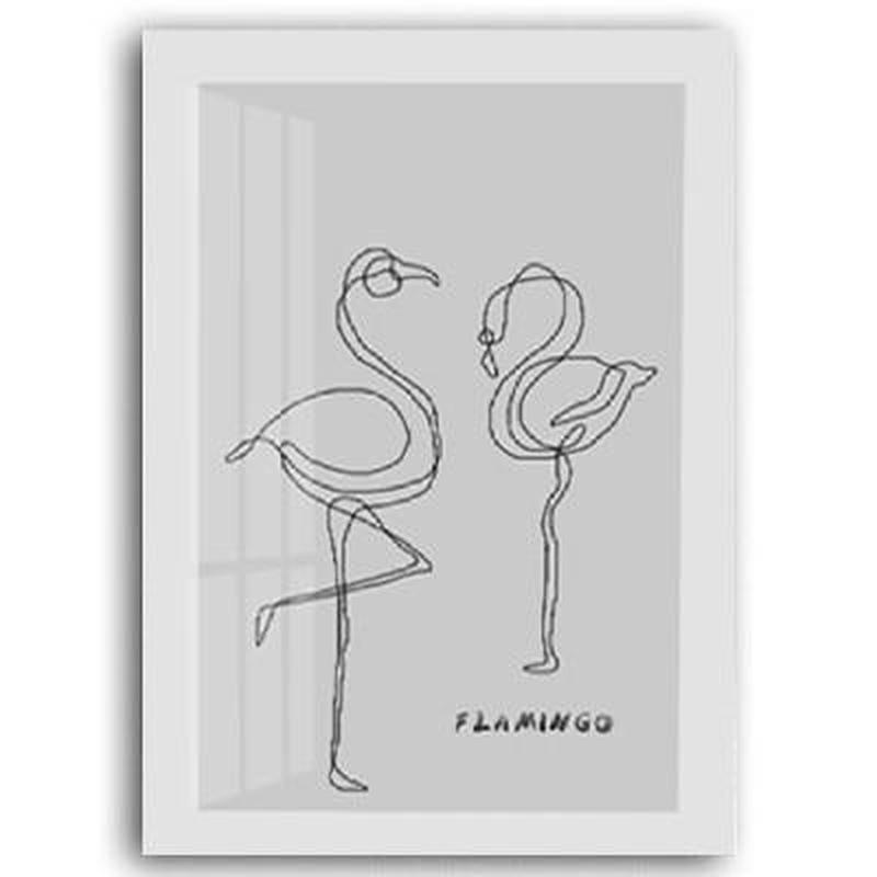 Deer, Green Leaves, Love, Flamingo Bird Canvas Painting Prints-Heart N' Soul Home-10x15 cm no frame-E-Heart N' Soul Home