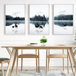 Deer In The Forest Canvas Painting Prints-Heart N' Soul Home-Heart N' Soul Home