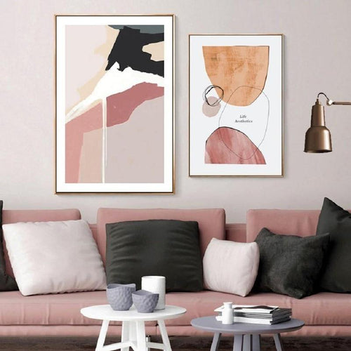 Don't Give Up Your Dream Abstract Geometric Art Canvas Painting Prints-Heart N' Soul Home-Heart N' Soul Home