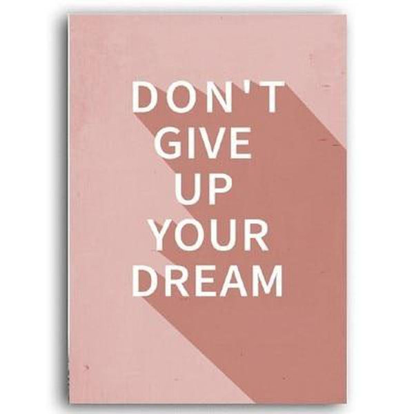 Don't Give Up Your Dream Abstract Geometric Art Canvas Painting Prints-Heart N' Soul Home-A4 21x30 cm no frame-Don't Give Up Your Dream-Heart N' Soul Home