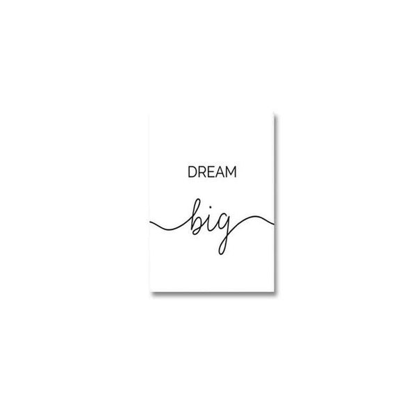 Dream Big Live Simple Life Quote Canvas Painting Prints-Heart N' Soul Home-10x15cm no frame-dream big-Heart N' Soul Home