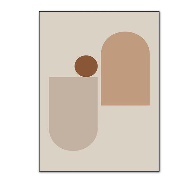 Earthy Color Abstract Geometric Canvas Prints-Heart N' Soul Home-10x15 cm no frame-A-Heart N' Soul Home