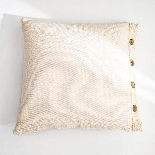 Esme Solid Color Knitted Cushion Cover-Heart N' Soul Home-45x45CM NO FILLING-Cream-Heart N' Soul Home