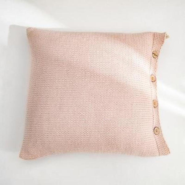 Esme Solid Color Knitted Cushion Cover-Heart N' Soul Home-45x45CM NO FILLING-Soft Pink-Heart N' Soul Home