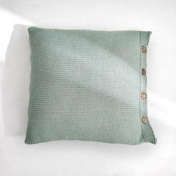 Esme Solid Color Knitted Cushion Cover-Heart N' Soul Home-45x45CM NO FILLING-Surf-Heart N' Soul Home