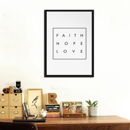 Faith Hope Love Canvas Painting Prints-HeartnSoulHome-Heart N' Soul Home