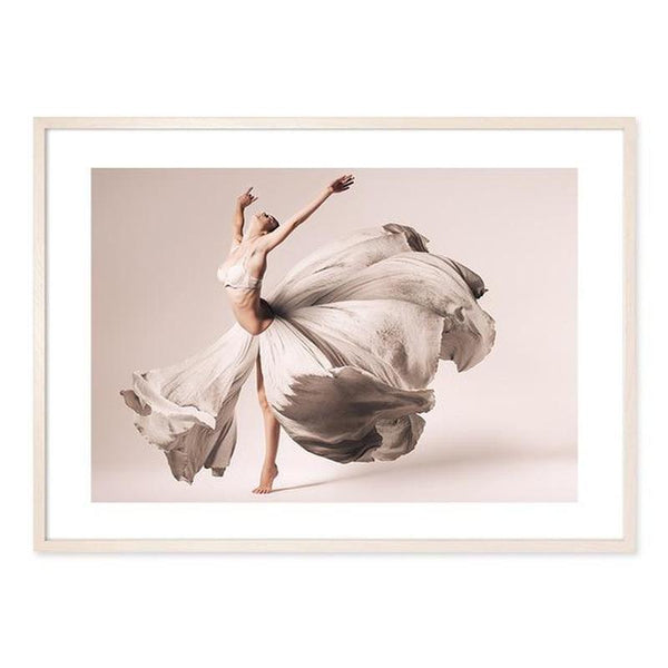 Flowers And Ballerina Canvas Prints-Heart N' Soul Home-13x18 cm no frame-Picture F-Heart N' Soul Home